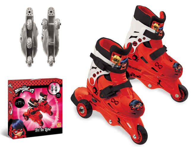18546 - MIRACULOUS 3 IN LINE SKATES