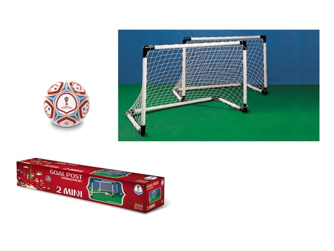 28404 - FIFA WORLD CUP 2018 - GOAL POST SET 2 MINI